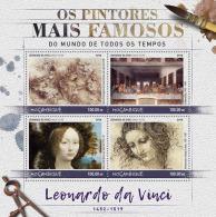 Mozambique 2017 Leonardo Da Vinci Paintings Painter S/S MOZ16525a - Famous People
