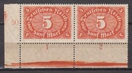 Duitsland 1921 Michel 174 Paar Plattennu. Xx Postfrisch/MNH/VF  [d17  ] - Allemagne