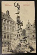 Alte Ansichtskarte Fontaine Brabo Antwerpen Brunnen Stempel Soldaten Brief 1916 - Denkmäler