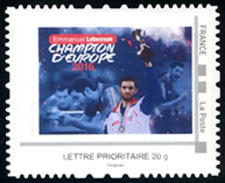 FRANCE 2016 - LEBESSON Champion Europe Tennis De Table - Timbre MTAM - Tischtennis Tavolo - Frankreich