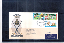 Hockey - Official FDC - New Zealand - Chidren's Health Camps 1971 - Complete Set (to See)