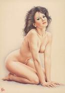 "4"" X 6""  [ 10 X 15 Cm ] Alain Aslan Erotic Pin-up  Postcard & Artcard Fine Nude  Female Naked Sexy Candid Model  AA#039 - Pin-Ups"