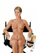 "4"" X 6""  [ 10 X 15 Cm ] Alain Aslan Erotic Pin-up  Postcard & Artcard Fine Nude  Female Naked Sexy Candid Model  AA#040 - Pin-Ups"