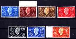Guadeloupe, Guyane, Inde, Nouvelle Calédonie, Réunion, Saint Pierre Et Miquelon Et Wallis Et Futuna N** - 1944 Entraide Française