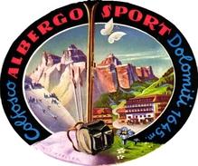 1Hotel Label Etiquette De Voyage Luggage Label Skifahren Ski Italia Colfosco Albergo Sport Dolomiti - Hotel Labels