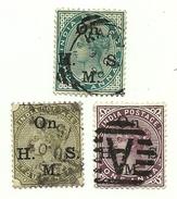 1883 - India Britannica S 30/31 + 33 Soprastampati C4478