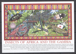D4 GAMBIA INSECTS OF AFRICA & THE GAMBIA 1KB MNH