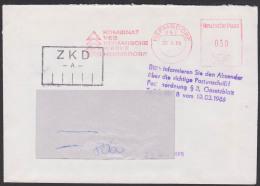 """Hermsdorf, ZKD-Brief Mit Kontrollstempel """"Beachtung Der Beschriftung Von ZKD-Sendungen .."""" Keramische Werke - [6] Democratic Republic"""