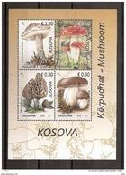 KOSOVO 2016,MUSHROOMS,FAUNA,BOLETUS,AMANITA,LECCINUM,MARCHELLA,BLOCK,MNH