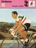 Fausto Coppi - Scheda Tecnica A Colori Del 1977 Edita Dalla Rizzoli - Ciclismo