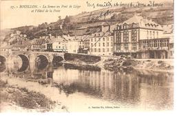 Belgique - Bouillon - La Semoy Au Pont De Liège Et L'Hôtel De La Poste - Belgique