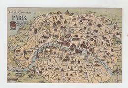 75 - PARIS / CARTE TOPOGRAPHIQUE 1910 - France