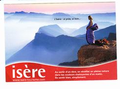 ISERE L'Isère: Si Près, Si Loin, Jeune Femme Dans Son Sac De Couchage, Ed. Cartapub 2002 Environ - Rhône-Alpes