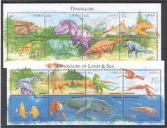 D55 LIBERIA REPTILES DINOSAURS OF LAND & SEA ANIMAUX PREHISTORIQUES 2KB MNH