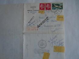 France 1969 Lettre Recouvrement Des Créances Civiles Greffe Du Tribunal D'instance De Chalon S/Sambre - Historische Documenten