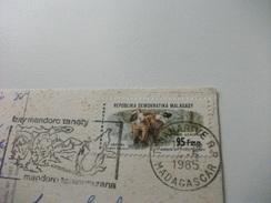 STORIA POSTALE FRANCOBOLLO COMMEMORATIVO  REPUBBLICA DEMOCRATICA MALAGASY POSTA AEREA NOSY KOMBA MADASCAR SPIAGGIA - Madagascar