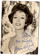 Marisa Del Frate , Fotografia Con Dedica E Autografo Datata 1960 - Foto Dedicate