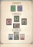 BELGIAN CONGO  COB 268/276 MNH