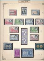 BELGIAN CONGO  COB 325/340 MNH