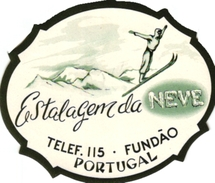 1Hotel Label Etiquette De Voyage Luggage Label Skifahren Ski Portugal Estalgem Da Neve FUNDAO - Hotel Labels