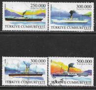 La Turquie Oblitérér, No: 2973 à 2976, Coté 3,50 Euros, Y & T, USED, NAVIRES DE COMMERCE - 1921-... République