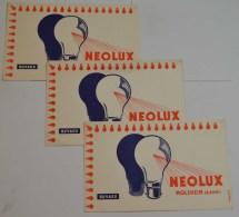 3 Buvards Neolux - Electricité & Gaz