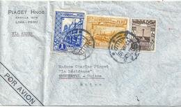 "Airmail Brief  ""Piaget, Lima"" - Neuchâtel             1939 - Peru"