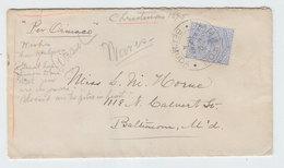 Bermuda/USA Baltimore SHIP POST PER ORINACO COVER 1896 - Bermuda