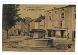 CPA Le Vercors Pittoresque 3209 La Chapelle En Vercors Place Fontaine Des Ours Drôme 26 Colorisée Neuve Animée - Altri Comuni