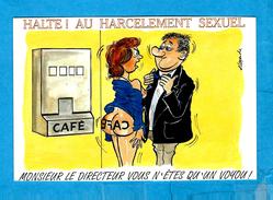 (Carte Illustrée)par ALEXANDRE - ** Mr LE DIRECTEUR VOUS N' ÊTES QU' UN VOYOU ** -  Editeur ; LYNA N°1055/1 - Humour