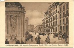 """Paris (France) """"Hotel San Regis"""" 12 Rue Jean-Gonjon Vu Du Grand Palais Et Des Champs-Elysées - Cafés, Hôtels, Restaurants"""