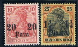 Reich Post, Levante, # 42, 44, Used And MH