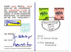 Lettre De Mülheim (18.08.1972) Pour Wahlwies_Europa_post Ballon_D_LDFM_luftschiff