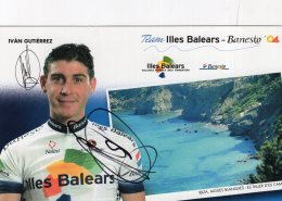 5542 Cp Cyclisme Ivan Gutierrez Dédicacée - Cyclisme