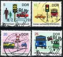 DDR - Michel 1444 / 1447 - OO Gestempelt (A) - Sicherheit Im Straßenverkehr
