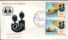 18975 Senegal Fdc 1979 ,  Sos Kinderdorf Village