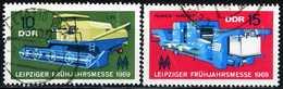 DDR - Michel 1448 / 1449 - OO Gestempelt (B) - Leipziger Frühjahrsmesse 69