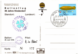 Lettre De Au (27.08.1976) Trogen_Freiballon_HB_BEK_kinderdorf