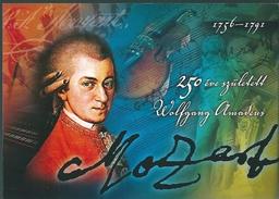 3182 Hungary Unused Prepaid Postcard Art Music Composer Mozart - Musique Et Musiciens
