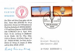 CP De Bonn (13.04.1978) Pour Dornhan_Freiballon_Zeppelin