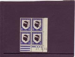 N° 755 - 10c Blason De La CORSE - A De A+B - 1° Tirage Du 28.5.46 Au12.6.46 - 31.05.1946 -