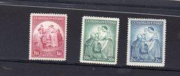 1936 Enfance Y 303 -305 **   Mi 342- 344 ** - Czechoslovakia