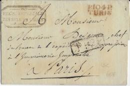 "ITALIE N°104 ""PO"" - 1811 - LETTRE PORT PAYE De TURIN Avec MARQUE ROUGE - REGIE IMPERIALE Des TABACS - 1792-1815: Conquered Departments"