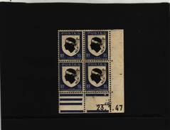 N° 755 - 10c Blason De La CORSE - D De  C+D - 1° Tirage Du 10.1.47 Au 28.1.47 - 23.1.1947 -