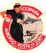 1 Hotel Label Etiquette De Voyage Luggage Label Skifahren Ski Italia Corvara Albergo Posta Ex Zirm Ladinia Dolomiti VG - Etiquettes D'hotels