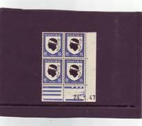 N° 755 - 10c Blason De La CORSE - C De  C+D - 1° Tirage Du 10.1.47 Au 28.1.47 - 24.1.1947 -