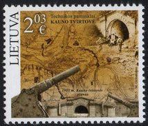 Lithuania. Lituania. Litauen. 2015. Kaunas Fortress. MNH**