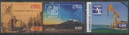ECUADOR ,2016, MNH, GEOLOGY, SAINT ELENA CUNA OIL, DRILLING, MOUNTAINS,3v