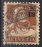 """Aufdruck """"13 Auf 12"""" 1915: Zu 134 Mi 126 Yv 147 Mit Voll-o BASEL 8.X.15 (Zumstein CHF 1.50)"""