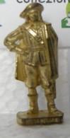 MONDOSORPRESA, KINDER FERRERO (SD9) MOSCHETTIERI N°1 40mm, DORATO - Figurine In Metallo